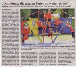 Zeitungsartikel Zirkuscamp